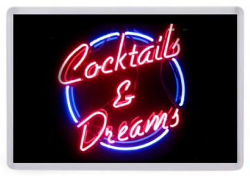Cocktails and Dreams Fridge Magnet